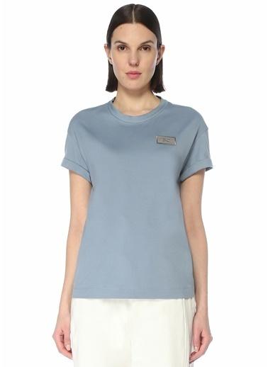 Brunello Cucinelli Brunello Cucinelli  Logo Patchli T-shirt 101614178 Mavi